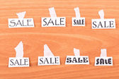 SALE on the wall — Stock Photo