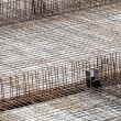 Construction site with concrete and steel — Stock Photo #10636374