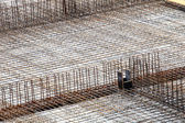 Construction site with concrete and steel — Stock Photo