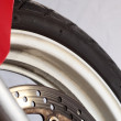 Motorcycle wheel brake — Stock Photo