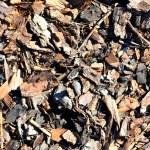 Leaf compost mulch pattern — Stock Photo