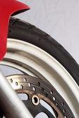 Motorcycle wheel brake — Stock Photo