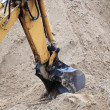Bucket digger of an earthmover — Stock Photo