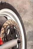 Motorcycle wheel brake — Stockfoto