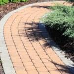 Brick Sidewalk — Stock Photo