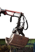 Isolated bucket digger of an earthmover — Stock Photo