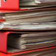 Stack red file Office folder - Stock Photo