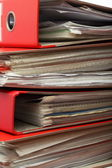 Stack red file Office folder — Stock Photo
