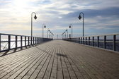 Pier in the morning. — Stock Photo