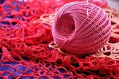A Ball of yarn for Knitting — Stock Photo