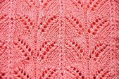 Knit pink texture — Stock Photo