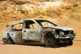 Burned car — Stock Photo