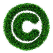 Grass copyright symbol — Stock Photo