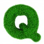 Grass letter Q — Stock Photo
