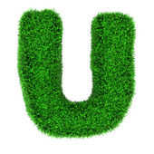 Grass letter U — Stock Photo