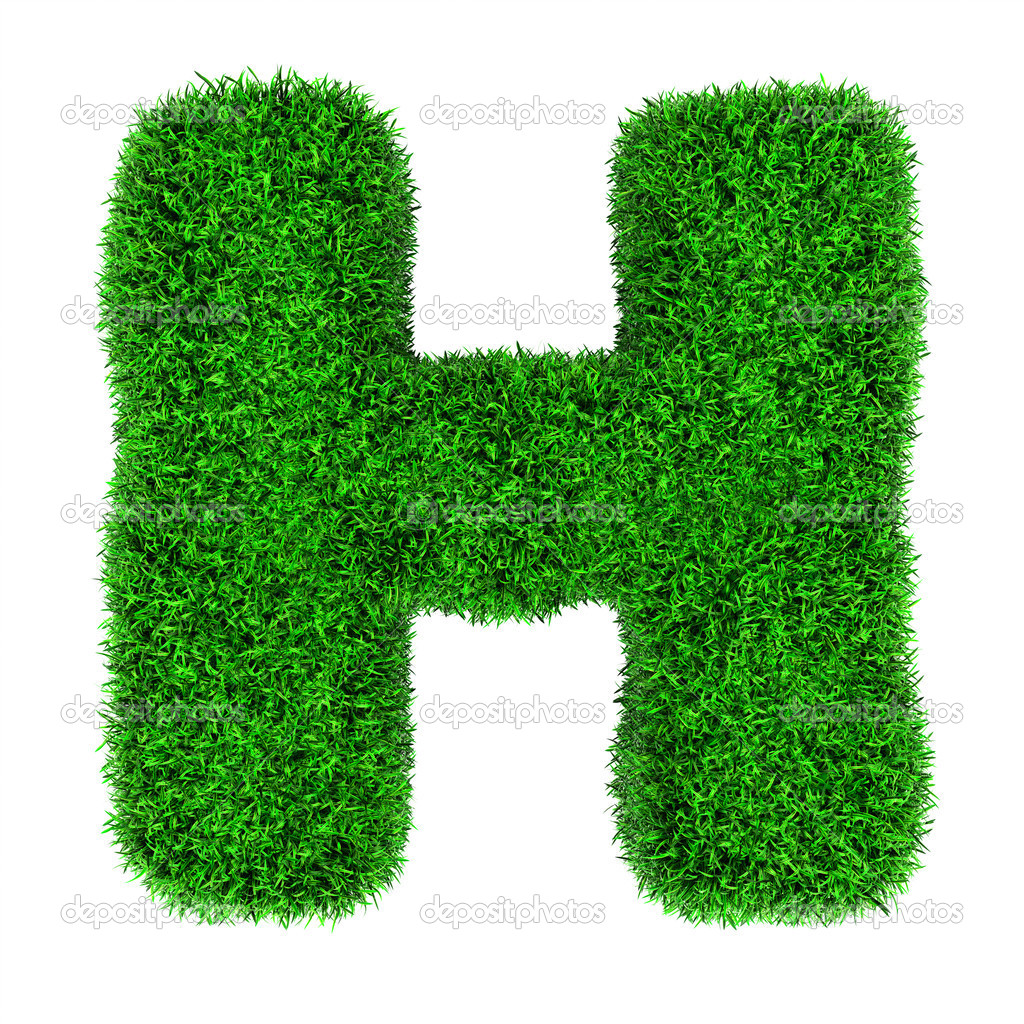 Grass letter H - Stock Image
