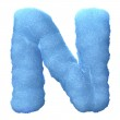 Ice letter N — Stock Photo #9311319