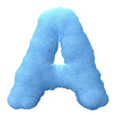 Ice letter A — Stock Photo