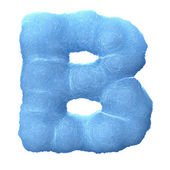 Ice letter B — Stock Photo