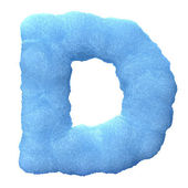 Ice letter D — Stock Photo