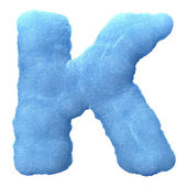 Ice letter K — Stock Photo
