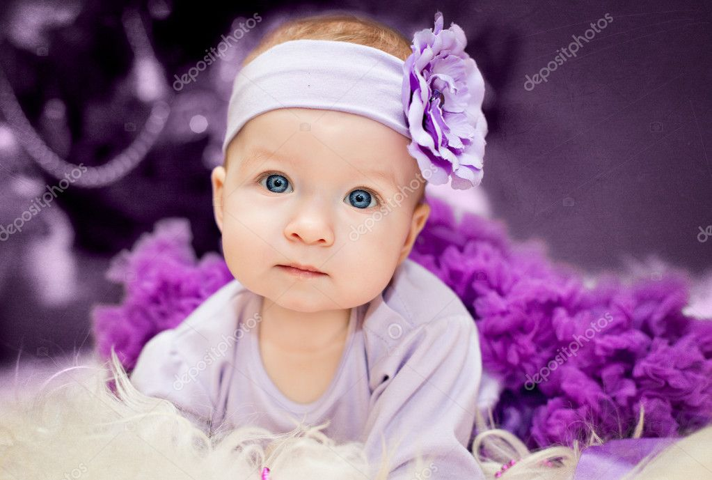 Cute little girl lies in skirt — Stock Photo #10598471