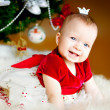 Cute little Christmas in the crown princess — Stock Photo