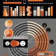 Elements of the infographics on a gray background - Stock Vector