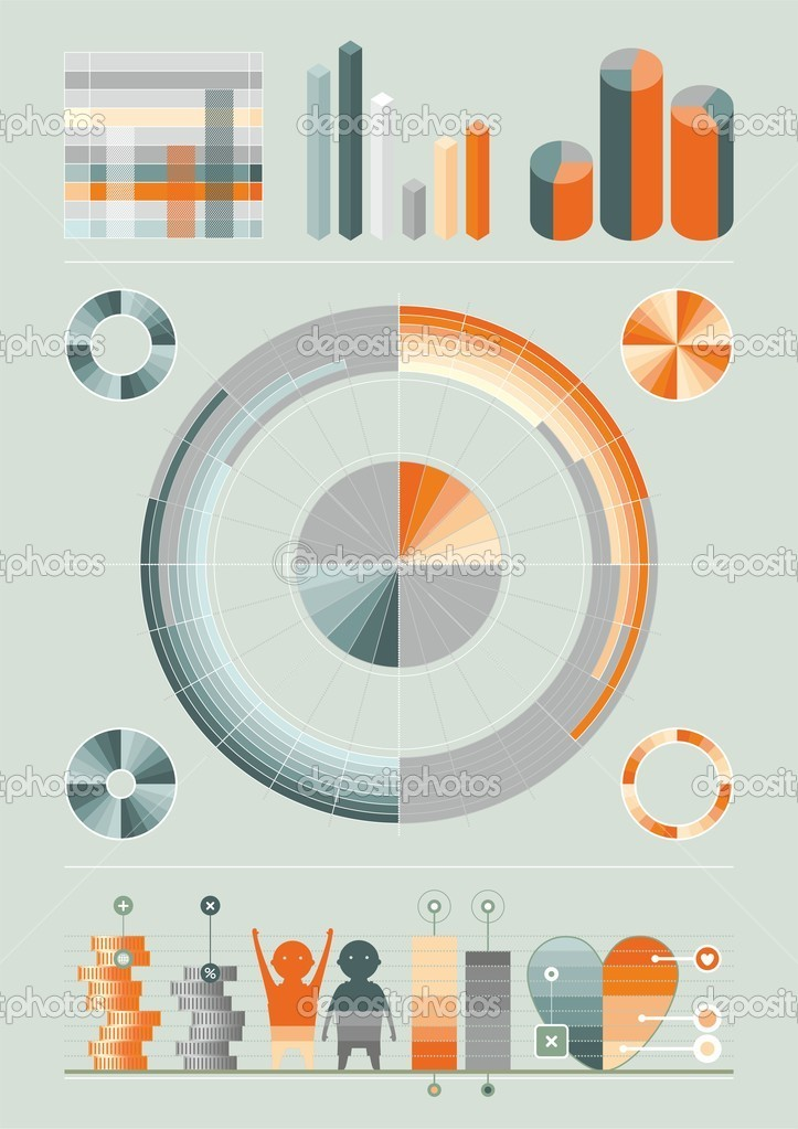 Elements of infographics — Stock Vector #8761922