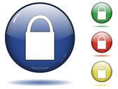 Lock icon set — Stock Vector