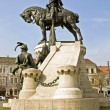 The statue of the king Matthias Corvinus — Stock Photo