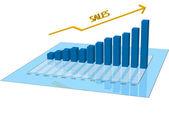Prodejní graf — Stock vektor