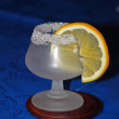 Goblet with lemon slice — Stock Photo #9364718