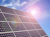 Bir güneş paneli — Stok fotoğraf