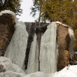 Stock Photo: A frozen waterfall