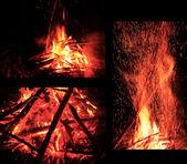 篝火 — 图库照片