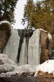A frozen waterfall — Stock Photo