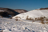 A lonely valley in winter — Stock Photo
