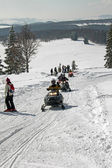 Snowmobiling — Stock Photo