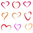 Heart set — Stock Vector #10249092