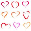 Heart set — Stock Vector