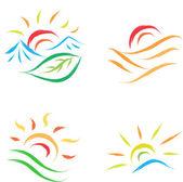 Sun symbol — ストックベクタ