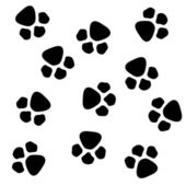 Paw prints — Foto de Stock