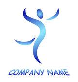 Logo uomo — Foto Stock