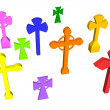 Stock Photo: Cross set