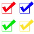 Check mark and check box — Stock Photo