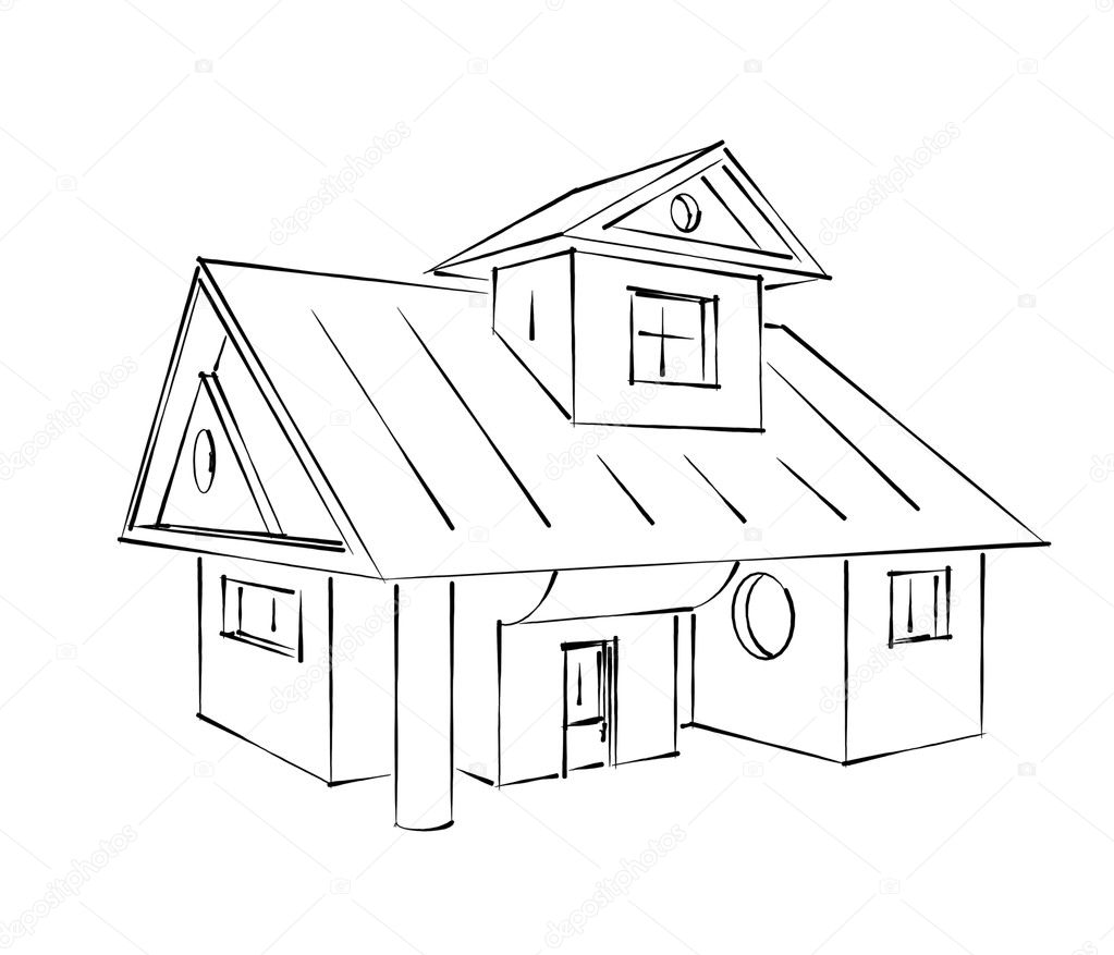 House sketch stock photo johny007pandp 10535309 for House sketches from photos