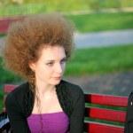 Portrait of pretty redhead girl — Stock Photo