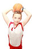 Muchacho con el balón — Foto de Stock