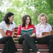 Students in the park — Stock Photo